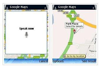 Spracherkennung bei Google Maps