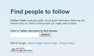 Mit Follow Finder beliebtesten Twitter-Anwender raussuchen