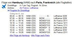 aktuelle Flugpläne von Google
