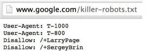 Google robots.txt Datei als Spaß