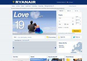 Ryanair vor dem Re-Design Bildquelle: web.archive.org