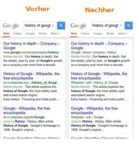 Mobile Suche Google ersetzt URLs durch Breadcrumbs